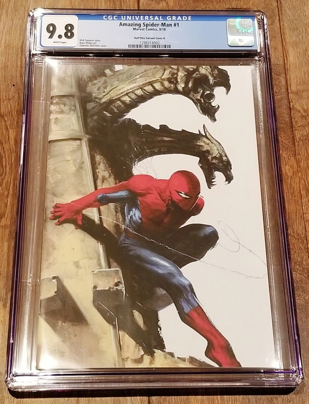 AMAZING SPIDER-MAN #1 CGC 9.8 DELL OTTO COMICXPOSURE VIRGIN VARIANT 1st KINDRED