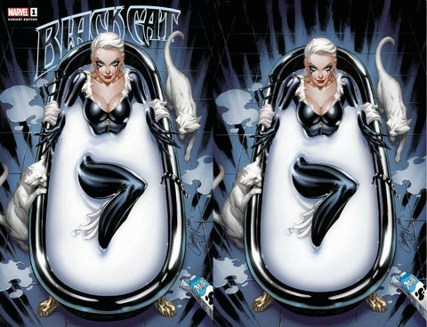 BLACK CAT #1 J. SCOTT CAMPBELL IN BATHTUB EXCLUSIVE VARIANTS
