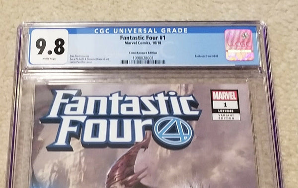 Fantastic Four 1 Lucio Parrillo Virgin Griever Variant DC Comics Marvel Comics East Side Comics Comicxposure Exclusive cgc