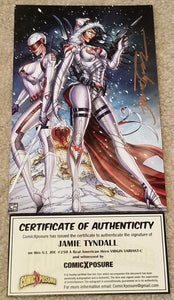 G.I. JOE #250 JAMIE TYNDALL SIGNED FEMALE SNAKE-EYES WINTER VIRGIN VARIANT COA