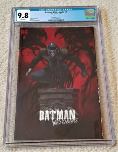 Batman Who Laughs 2 Harley Quinn Variant Riccardo federici DC Comics Batman Who Laughs Harley Who Laughs East Side Comics Comicxposure Exclusive cgc