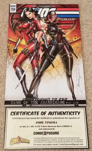 G.I. JOE #250 JAMIE TYNDALL SIGNED FEMALE SNAKE-EYES EXCLUSIVE VARIANT COA