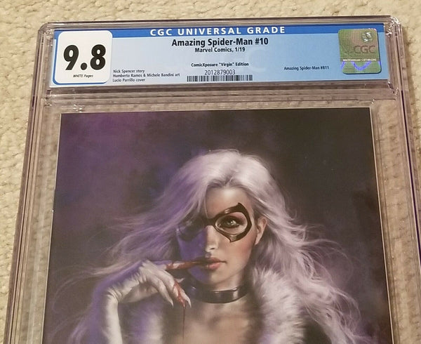 Black Cat Marvel Comics East Side Comics Eastside Amazing Spider-man 10 Lucio Parrillo Variant Cover Exclusive Comicxposure