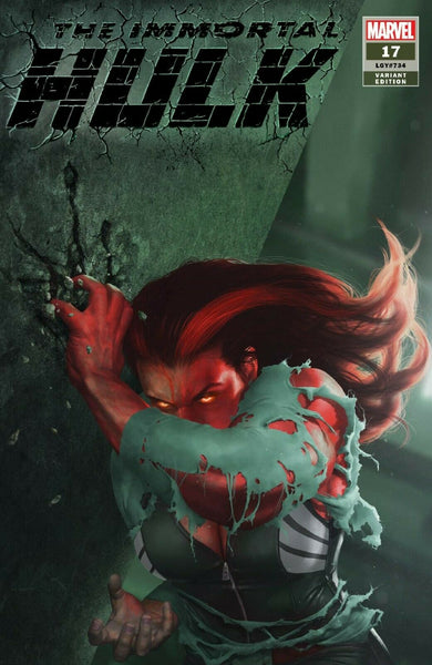 IMMORTAL HULK #17 RAHZZAH EXCLUSIVE RED SHE-HULK VIRGIN VARIANT IMMORTAL Incredible Spider-man Marvel Comics Exclusive Green Hulk Red Hulk East Side Comics CGC