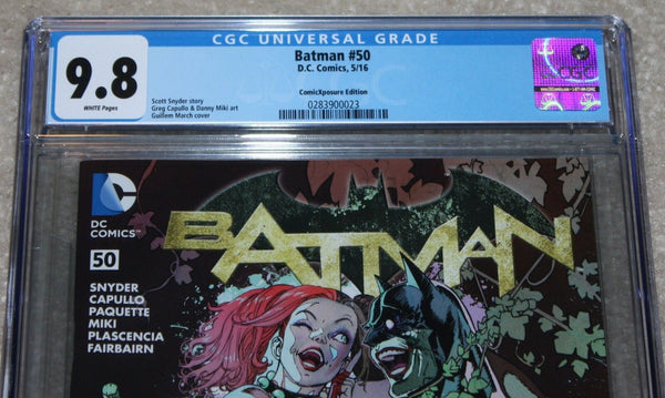 BATMAN 50 CGC 9.8 GUILLEM MARCH HARLEY QUINN POISON IVY INTERLOCKING VARIANT