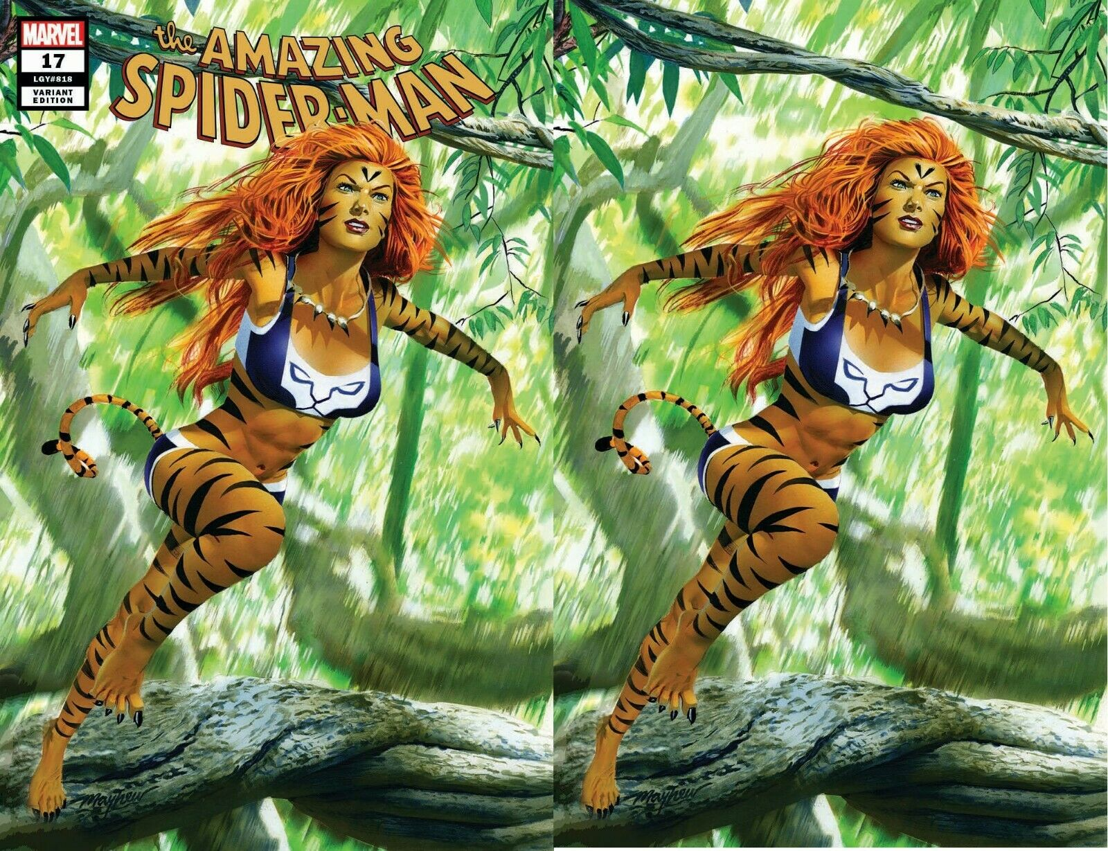 AMAZING SPIDER-MAN #17 MIKE MAYHEW TIGRA HUNTED EXCLUSIVE VARIANTS