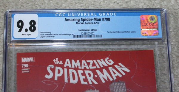 AMAZING SPIDER-MAN 798 CGC 9.8 CLAYTON CRAIN COMICXPOSURE VARIANT RED GOBLIN