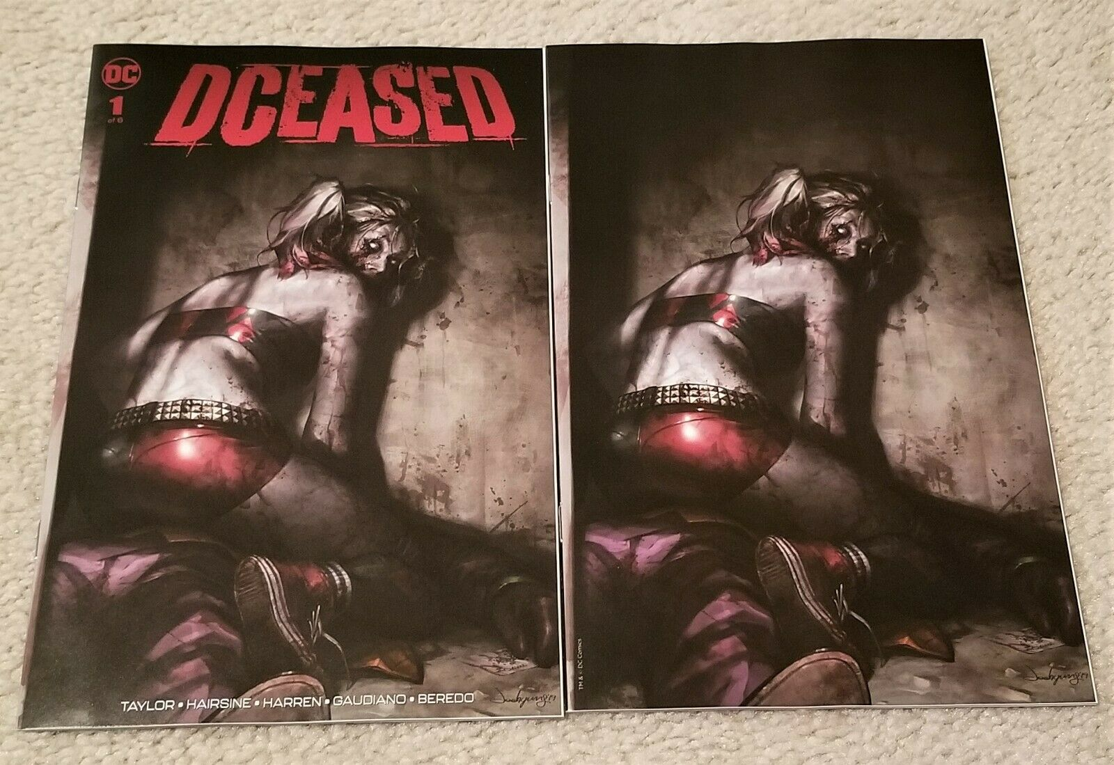 DCEASED #1 JEEHYUNG LEE ZOMBIFIED HARLEY QUINN EXCLUSIVE VARIANTS