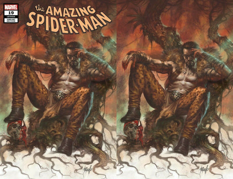 AMAZING SPIDER-MAN #19 LUCIO PARRILLO KRAVEN HUNTED EXCLUSIVE VARIANTS