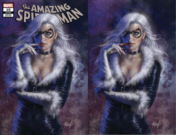 AMAZING SPIDER-MAN #10 LUCIO PARRILLO BLACK CAT EXCLUSIVE VARIANTS