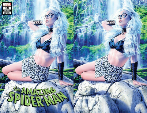 AMAZING SPIDER-MAN #18 MIKE MAYHEW KRAVENIZED BLACK CAT HUNTED EXCLUSIVE VARIANTS
