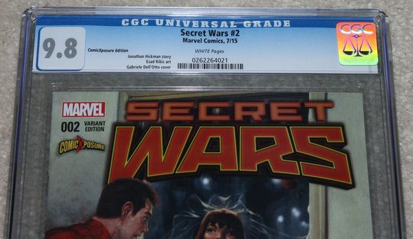 Secret Wars 2 Gabrielle Dell Otto Mary Jane Wedding Variant Marvel Comics Spider-man East Side Comics Comicxposure Exclusive cgc Amazing