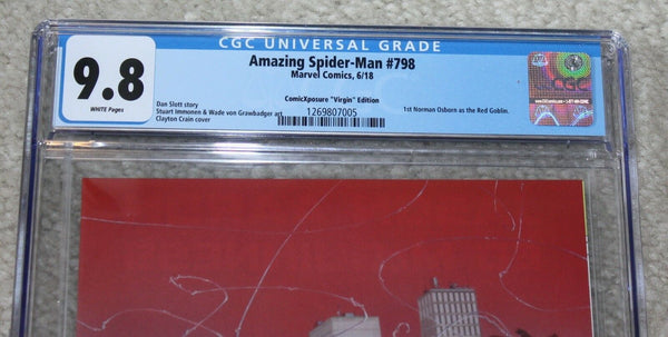 AMAZING SPIDER-MAN 798 CGC 9.8 CLAYTON CRAIN VIRGIN VARIANT RED GOBLIN