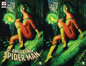 AMAZING SPIDER-MAN #21 MIKE MAYHEW SPIDER-WOMAN HUNTED EXCLUSIVE VARIANTS