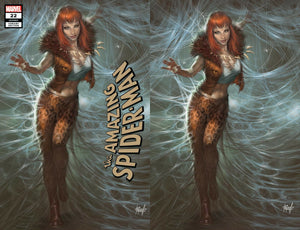 AMAZING SPIDER-MAN #22 LUCIO PARRILLO KRAVENIZED MARY JANE HUNTED EXCLUSIVE VARIANTS