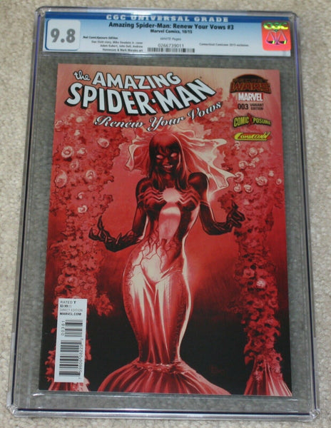 AMAZING SPIDER-MAN RENEW YOUR VOWS 3 CGC 9.8 MARY JANE VENOM RED CON VARIANT