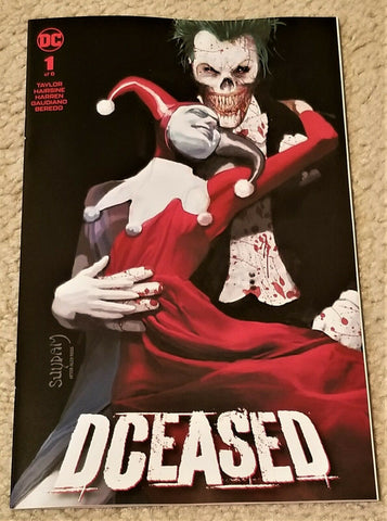 DCEASED #1 ARTHUR SUYDAM JOKER HARLEY QUINN HOMAGE ALEX ROSS EXCLUSIVE VARIANT