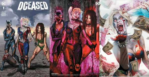 DCEASED #1 GREG HORN HOMAGE HARLEY QUINN ZOMBIE 25th ANNIVERSARY EXCLUSIVE VARIANTS