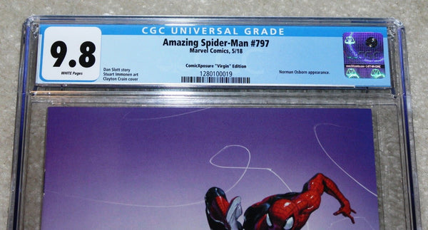 AMAZING SPIDER-MAN 797 CGC 9.8 CLAYTON CRAIN VIRGIN VARIANT RED GOBLIN