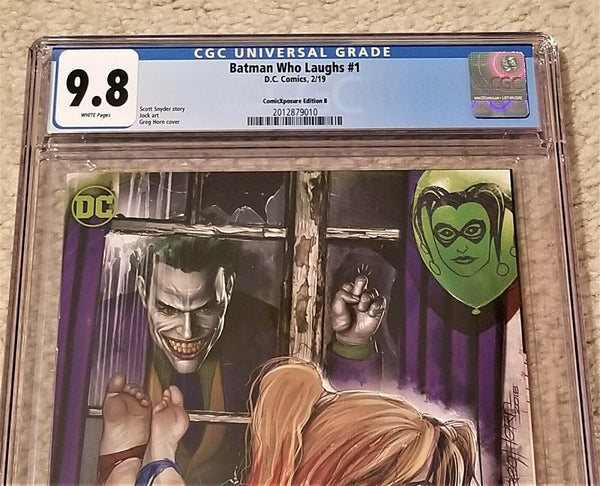 Batman Who Laughs 1 Harley Quinn Variant Greg Horn DC Comics Batman Harley Who Laughs East Side Comics Comicxposure Exclusive cgc Joker