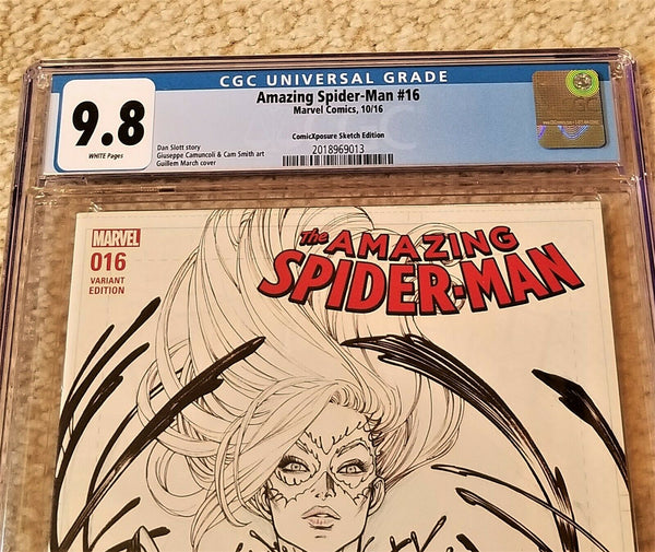Black Cat Venom Marvel Comics East Side Comics Eastside Amazing Spider-man 16 Guillem March Variant Cover Exclusive Comicxposure
