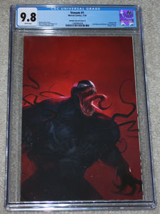 VENOM #1 CGC 9.8 FRANCESCO MATTINA VIRGIN VARIANT B SPIDER-MAN