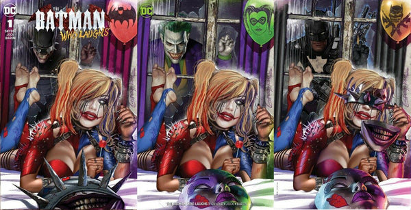 BATMAN WHO LAUGHS #1 GREG HORN HARLEY QUINN WHO LAUGHS VARIANT 4-PK