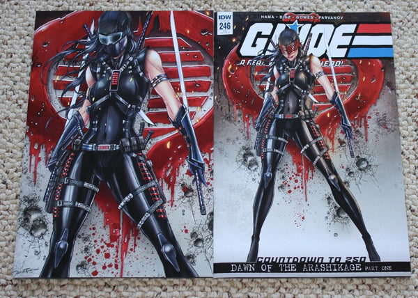 G.I. Joe GI Jamie Tyndall Snake-Eyes Cobra VIrgin Variant Exclusive Storm Shadow IDW east side comics