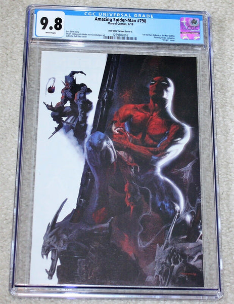 AMAZING SPIDER-MAN 798 CGC 9.8 GABRIELLE DELL OTTO WHITE VIRGIN VARIANT-C 1st RED GOBLIN