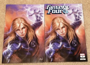 FANTASTIC FOUR #1 LUCIO PARRILLO SUE STORM EXCLUSIVE VARIANTS