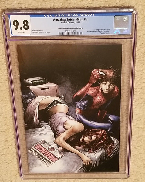 AMAZING SPIDER-MAN 6 CGC 9.8 HUMBERTO RAMOS NYCC EXCLUSIVE VIRGIN VARIANT