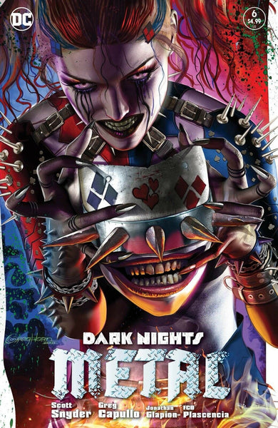 DARK NIGHTS METAL #6 GREG HORN HARLEY QUINN BATMAN WHO LAUGHS VARIANT SET