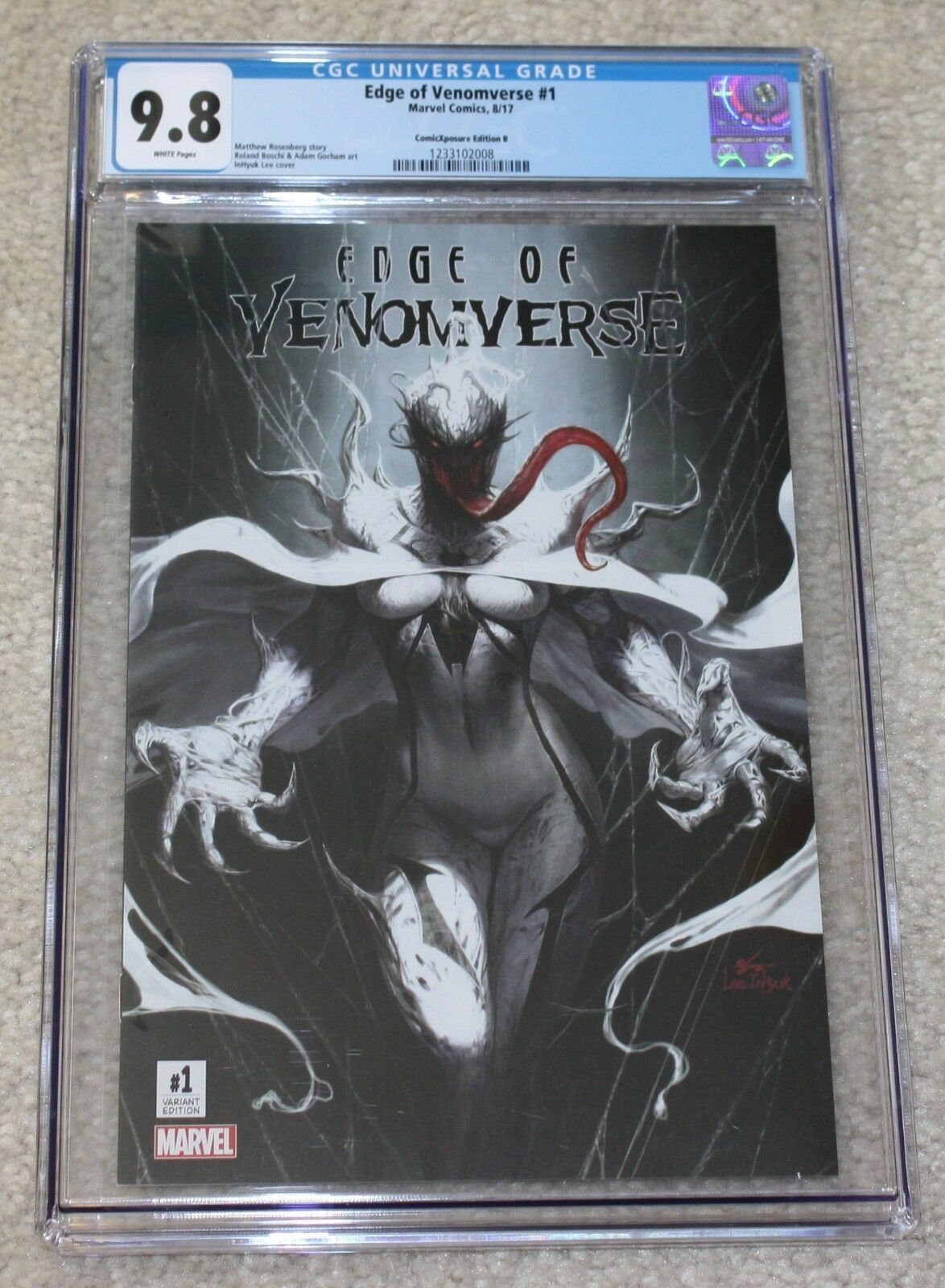 EDGE OF VENOMVERSE #1 CGC 9.8 INHYUK LEE WHITE QUEEN FULLY VENOM VARIANT B