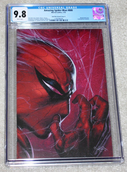 Amazing Spider-man 800 Gabrielle Dell Otto Trade Dress Virgin Wraparound Variant Marvel Comics East Side Comics Comicxposure Exclusive CGC Red Goblin Venom