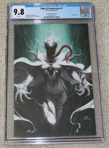 EDGE OF VENOMVERSE #1 CGC 9.8 INHYUK LEE WHITE QUEEN FULLY VENOM VIRGIN VARIANT D