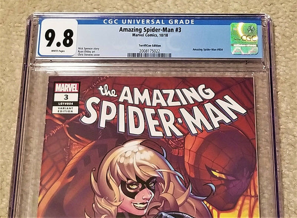 Marvel Comics East Side Comics Eastside Amazing Spider-man 3 Black Cat Chris Stevens Virgin Variant Cover Exclusive Comicxposure