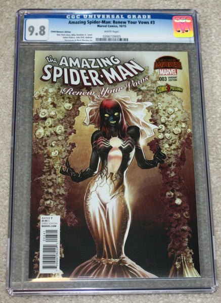 AMAZING SPIDER-MAN RENEW YOUR VOWS 3 CGC 9.8 VENOMIZED MJ VARIANT