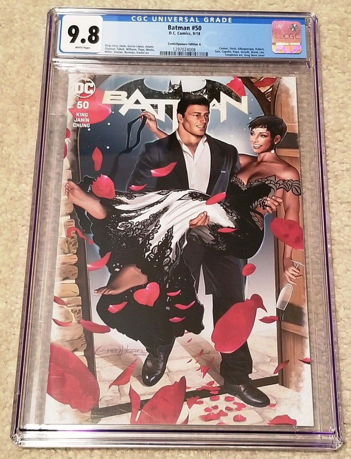 BATMAN 50 CGC 9.8 GREG HORN VARIANT-A CATWOMAN WEDDING EXCLUSIVE