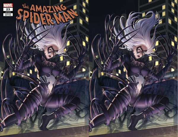 AMAZING SPIDER-MAN #23 WOO DAE SHIM VENOM-IZED BLACK CAT EXCLUSIVE VARIANTS