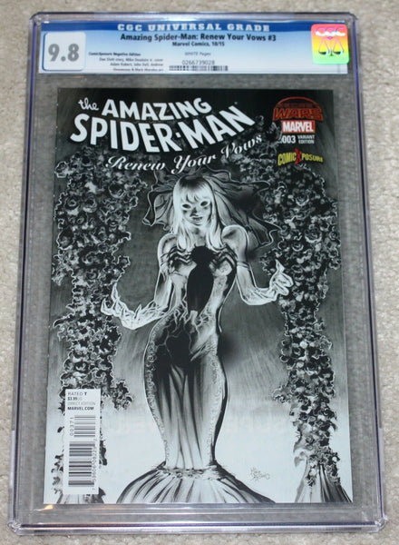 AMAZING SPIDER-MAN RENEW YOUR VOWS 3 CGC 9.8 VENOMIZED MJ NEGATIVE VARIANT