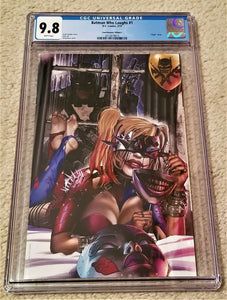 Batman Who Laughs 1 Harley Quinn Virgin Variant Greg Horn DC Comics Batman Harley Who Laughs East Side Comics Comicxposure Exclusive cgc Joker Grim Knight
