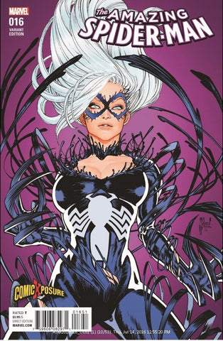 AMAZING SPIDER-MAN #16 GUILLEM MARCH VENOM-IZED BLACK CAT COLOR EXCLUSIVE VARIANT