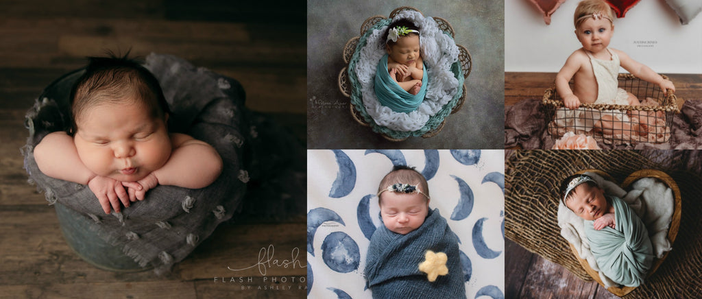 Textured Layers - Distressed Squares Layers - Burlap Layers - Tufted Boho Layers - Textured Fringe Layers - Tiny Tot Prop Shop - Newborn Photo Props Canada - Canadian Photography Props