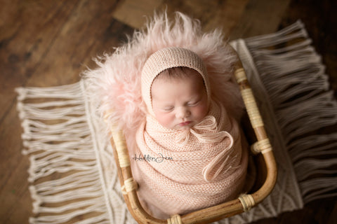 Tiny Tot Prop Shop - Newborn Photo Props Canada - Canadian Photography Props - Bamboo Basket - Bamboo Photo Prop
