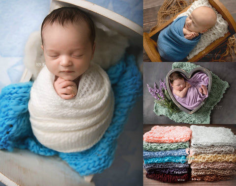Chunky Knit Bump Blanket Layers - Chunky Knit Layers - Tiny Tot Prop Shop - Newborn Photo Props Canada - Canadian Photography Props
