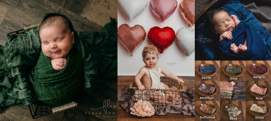 Distressed Squares Layers - Textured Layers - Tiny Tot Prop Shop - Newborn Photo Props Canada - Canadian Photography Props