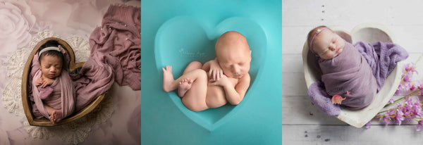Heart-Bowls - Rustic Wooden Bowl - Newborn Wood Bowl - Wooden Photo Props - Newborn Photo Props Canada - Tiny Tot Prop Shop - Photography Props - Photo Props