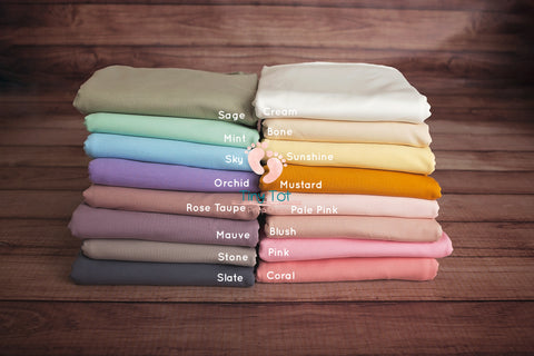 Solid Jersey Knit Posing Fabric - Beanbag Backdrop Fabric - Newborn Photo Props Canada - Tiny Tot Prop Shop