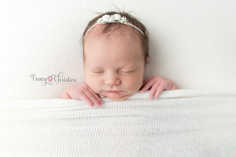 cuddle knit posing fabric - newborn photo props - tiny tot prop shop