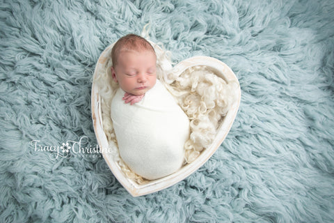 White Wooden Heart Bowl - Wooden Photo Props - Newborn Photo Props Canada - Tiny Tot Prop Shop